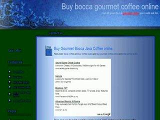 Buy gourmet coffee online.