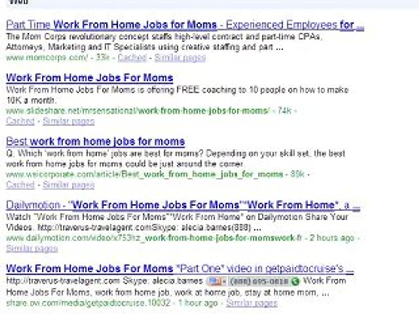 Work From Home Jobs For Moms Part Two