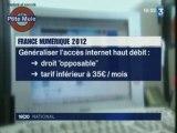 Plan de développement économie numérique 2012
