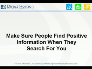 Search Engine Marketing   Who Are You?
