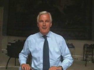 Michel Barnier et l'Université d'été des JE -  France