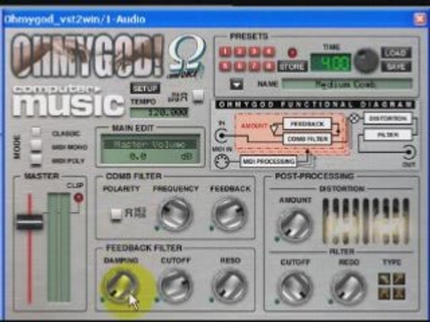 OhMyGod tutorial (comb filter plugin by Ohm Force)