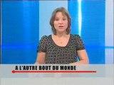 Une bénévole de Vision du Monde sur une chaine de télévison des Yvelines.