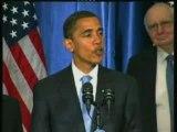 Première conférence de presse du président Barack Obama