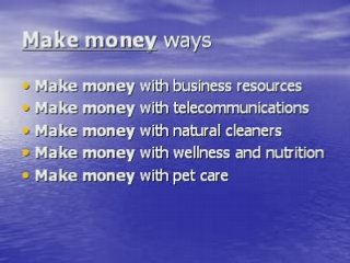 INTERNET INCOME – MAKE MONEY – MAKE MONEY ONLINE