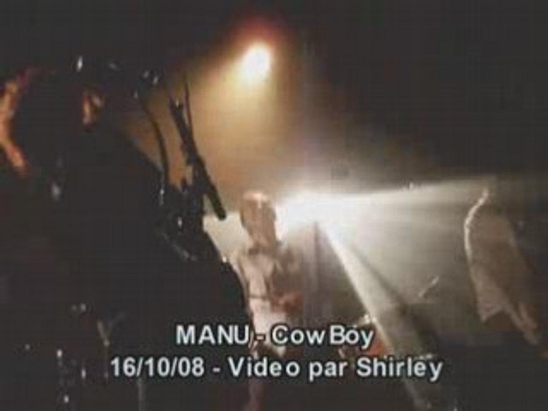 Manu - Cowboy - Live @ La boule noire 16.10.08 par Shirley