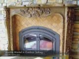 Marble & Travertine & Cast Stone Fireplace Mantels