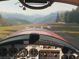 Take-off and landing at Meribel and Courchevel