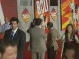 Miley Cyrus and John Travolta premiere Bolt