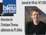 Journal de 18h de France Bleu Gard Lozère 19/11/08