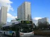 Nantes : bus et gratte-ciel