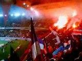 PSG - Lyon 2008-2009 (tifos + cout d'envoi Pauleta)