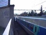 BB 7220 nez cassé+BB 67000 Bleu+BB67000 Fret+BB 7200 nez cassé+1 train TGV+1 train TER à Lyon le 04/04/08