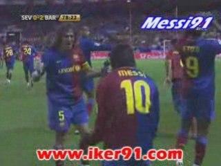 FC SEVILLE- FC BARCELONE 0-2 BUT DE MESSI