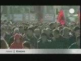 Albanais contre le Plan de l'ONU. EuroNews. Décembre 2008