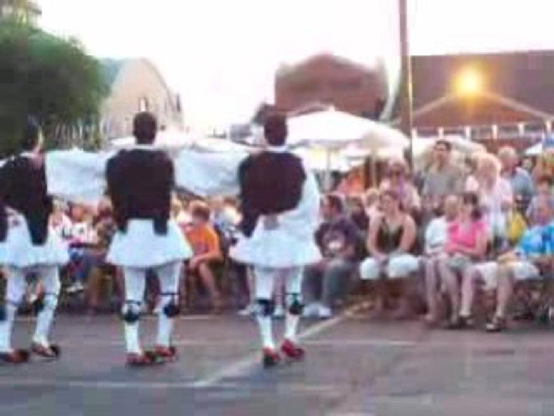 Greek Fest Zorba in 110 dgeree's heat index