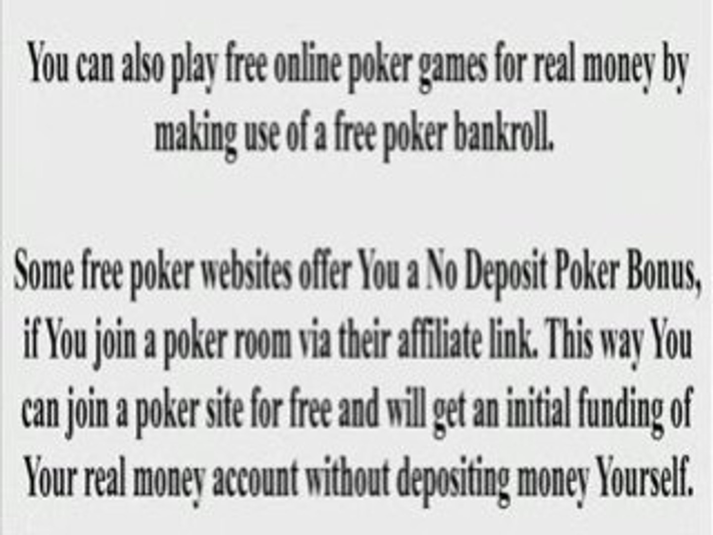 All Free Poker Sites Video Dailymotion