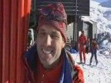 Valloire - Premières traces à skis de l'hiver...