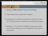 Crownpeak CMS - SaaS Vs. ASP