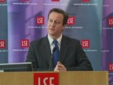 David Cameron speaks about the economy