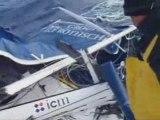 Gitana Eighty après démâtage, bonjour les dégâts