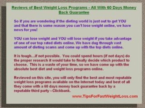Best Weight Loss Programs Review For Best Weight Loss Plans Video Dailymotion