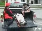 Ambulance qui perd son blessé