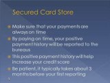 Bank secured credit cards can help you improve credit