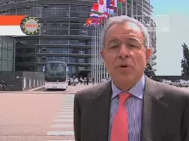 Visite guidée du  Parlement européen avec Alain Lamassoure