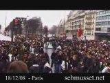 MANIFESTATION LYCEENS PARIS > 18.12.08