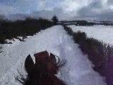 un galop avec Noisette dans la neige