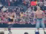 WWE Raw 12/22/08 John Cena and Trish Stratus vs Glamarella 2