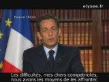 Les vœux de Nicolas Sarkozy