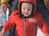 Dernière descente à skis de la journée!