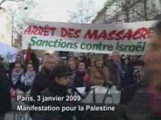 Palestine: Manif à Paris 3/01/2009