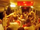 le retour de bayonne dans le bus aux férias