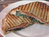 Prosciutto and Red Spinach Grilled Goat Cheese Sandwich