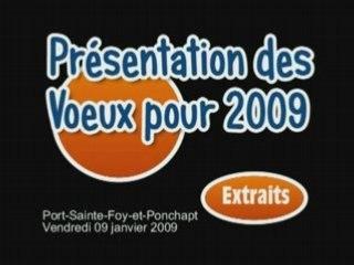 Port-Sainte-Foy-et-Ponchapt - Voeux 2009
