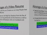 video resume tips advice for career search job search info