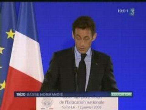 visite houleuse de Nicolas Sarkozy à Saint-Lô (50)