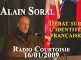 Alain Soral et l'identité française Radio Courtoisie Part 1
