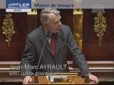 Jean-Marc Ayrault défend la motion de censure socialiste