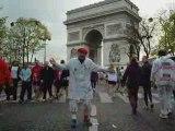 mario et son petit vélo au marathon de paris 2008 1èr partie