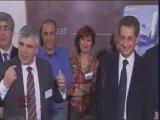 Nicolas Sarkozy et un sacré patron (drôle ou pas! )