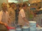 Making Won-Ton Noodle Soup. HD