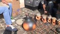Percussions en argile: Ensemble de tambours arrosoir