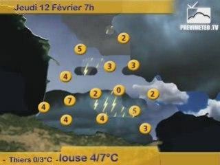 Bulletin Previmeteo.TV du 11/02/2009 pour le Sud-Ouest