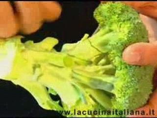 Pulire i broccoli