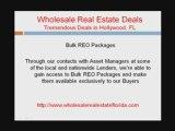 Hollywood Florida wholesale real estate deals