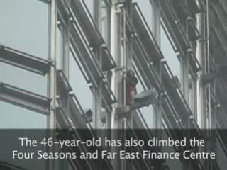 French Spiderman scales Hong Kong skyscraper